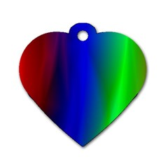 Graphics Gradient Colors Texture Dog Tag Heart (one Side)