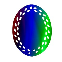 Graphics Gradient Colors Texture Oval Filigree Ornament (two Sides) by Nexatart