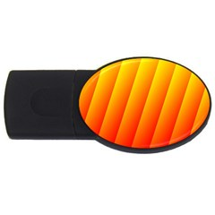 Graphics Gradient Orange Red Usb Flash Drive Oval (4 Gb)