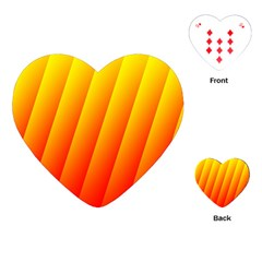 Graphics Gradient Orange Red Playing Cards (heart)