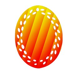 Graphics Gradient Orange Red Oval Filigree Ornament (two Sides)