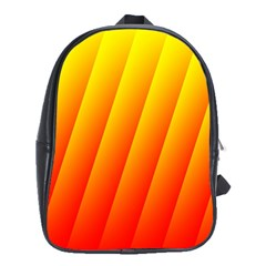 Graphics Gradient Orange Red School Bags (xl)