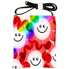 Happy Flowers Shoulder Sling Bags