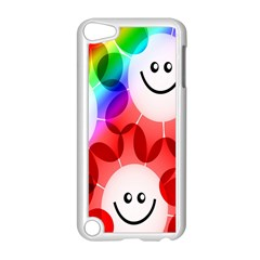 Happy Flowers Apple iPod Touch 5 Case (White) by Nexatart