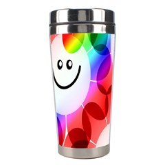 Happy Flowers Stainless Steel Travel Tumblers