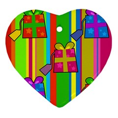 Holiday Gifts Ornament (heart) by Nexatart