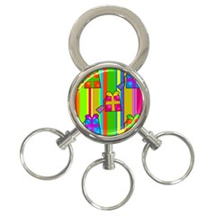 Holiday Gifts 3 Ring Key Chains by Nexatart