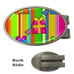 Holiday Gifts Money Clips (oval)  by Nexatart
