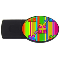 Holiday Gifts Usb Flash Drive Oval (4 Gb) by Nexatart