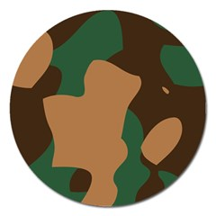 Military Camouflage Magnet 5  (round) by Nexatart