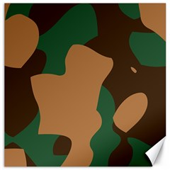 Military Camouflage Canvas 16  X 16   by Nexatart
