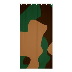 Military Camouflage Shower Curtain 36  X 72  (stall)  by Nexatart