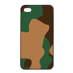 Military Camouflage Apple Iphone 4/4s Seamless Case (black)