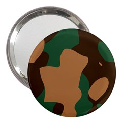 Military Camouflage 3  Handbag Mirrors by Nexatart