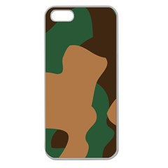 Military Camouflage Apple Seamless Iphone 5 Case (clear) by Nexatart