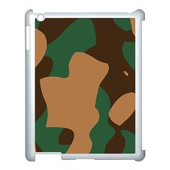 Military Camouflage Apple Ipad 3/4 Case (white) by Nexatart