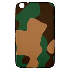 Military Camouflage Samsung Galaxy Tab 3 (8 ) T3100 Hardshell Case  by Nexatart