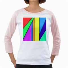 More Color Abstract Pattern Girly Raglans by Nexatart