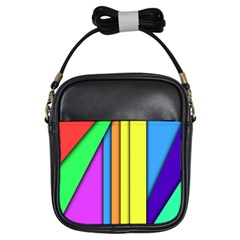 More Color Abstract Pattern Girls Sling Bags by Nexatart