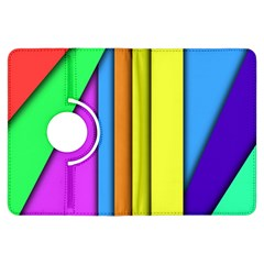 More Color Abstract Pattern Kindle Fire Hdx Flip 360 Case by Nexatart