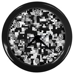 Noise Texture Graphics Generated Wall Clocks (black)