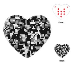 Noise Texture Graphics Generated Playing Cards (heart)