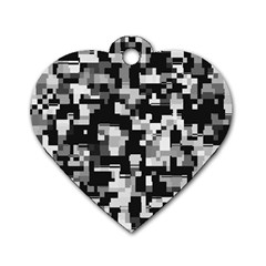 Noise Texture Graphics Generated Dog Tag Heart (one Side)