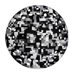 Noise Texture Graphics Generated Round Filigree Ornament (two Sides)