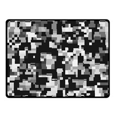 Noise Texture Graphics Generated Double Sided Fleece Blanket (small)
