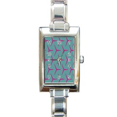 Pattern Background Structure Pink Rectangle Italian Charm Watch