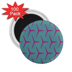 Pattern Background Structure Pink 2 25  Magnets (100 Pack)