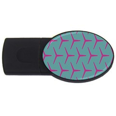 Pattern Background Structure Pink Usb Flash Drive Oval (2 Gb) by Nexatart