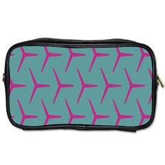 Pattern Background Structure Pink Toiletries Bags 2 Side