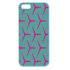 Pattern Background Structure Pink Apple Seamless iPhone 5 Case (Color) by Nexatart