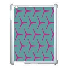 Pattern Background Structure Pink Apple Ipad 3/4 Case (white)