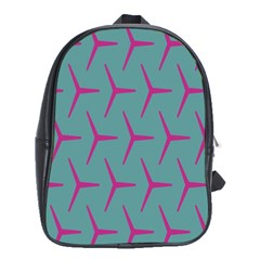 Pattern Background Structure Pink School Bags (xl)  by Nexatart