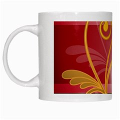 Pattern Vectors Illustration White Mugs