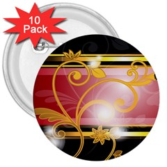 Pattern Vectors Illustration 3  Buttons (10 Pack)  by Nexatart
