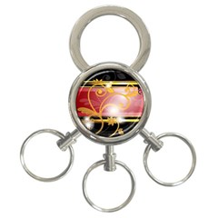 Pattern Vectors Illustration 3-Ring Key Chains