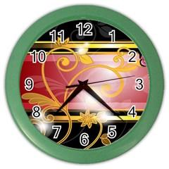 Pattern Vectors Illustration Color Wall Clocks by Nexatart