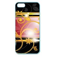 Pattern Vectors Illustration Apple Seamless Iphone 5 Case (color)