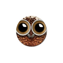 Owl Coffee Art Golf Ball Marker (4 Pack) by Nexatart