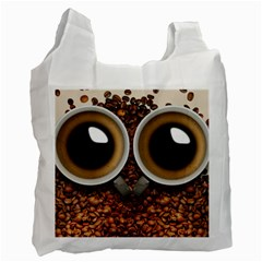 Owl Coffee Art Recycle Bag (one Side) by Nexatart