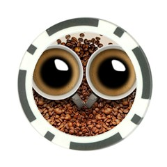 Owl Coffee Art Poker Chip Card Guard (10 Pack) by Nexatart