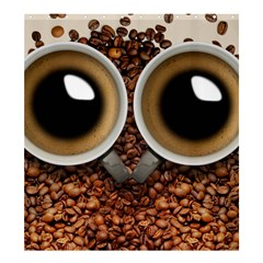 Owl Coffee Art Shower Curtain 66  X 72  (large)  by Nexatart