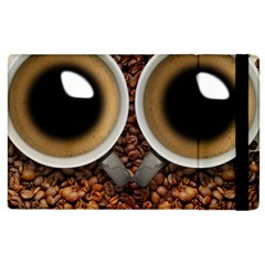 Owl Coffee Art Apple Ipad 3/4 Flip Case