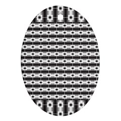 Pattern Background Texture Black Oval Ornament (two Sides)