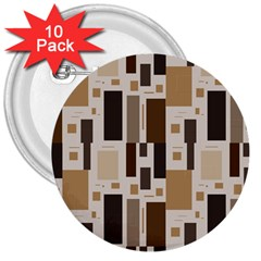 Pattern Wallpaper Patterns Abstract 3  Buttons (10 Pack)  by Nexatart