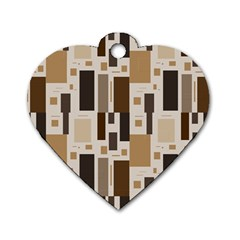 Pattern Wallpaper Patterns Abstract Dog Tag Heart (two Sides)
