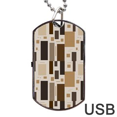 Pattern Wallpaper Patterns Abstract Dog Tag Usb Flash (two Sides)